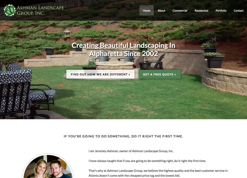 Ashman Landscaping - Centric Pro Theme Customization