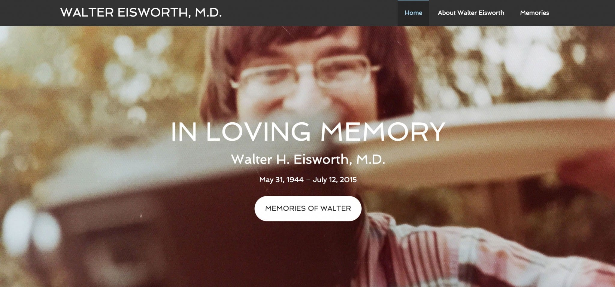 Agency Pro Theme Examples: Walter Eisworth, M.D.